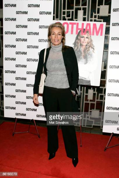 Model Frederique Van Der Wal arrives at the listening party for Shawn King's new CD 'In My Own Backyard' hosted by Gotham Magazine at Lotus on...