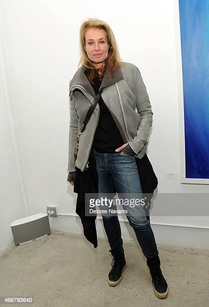 Model Frederique van der Wal attends Tali Lennox Exhibition Opening Reception at Catherine Ahnell Gallery on March 18 2015 in New York City