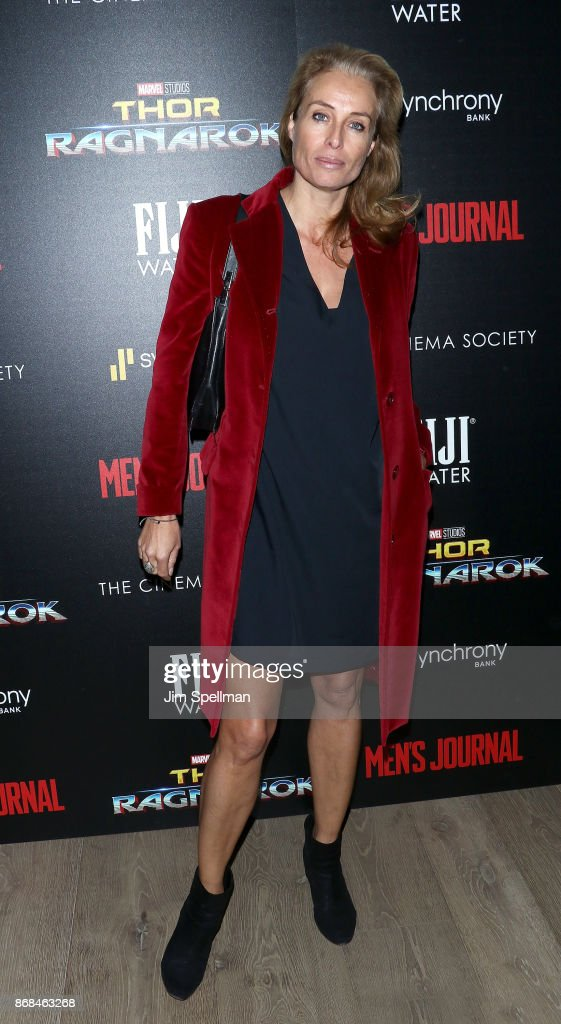 Model Frederique van der Wal attends the screening of Marvel Studios' 'Thor: Ragnarok' hosted by The Cinema Society with FIJI Water, Men's Journal and Synchrony at the Whitby Hotel on October 30, 2017 in New York City.