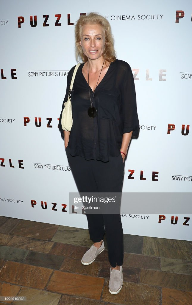 Model Frederique van der Wal attends the screening of 'Puzzle' hosted by Sony Pictures Classics and The Cinema Society at The Roxy Cinema on July 24, 2018 in New York City.