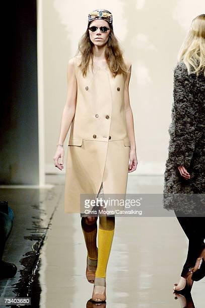 Model Freja Beha Erichsen walks the runway at the Prada Autumn/Winter 2007 collection during Milan Fashion Week February 20 2007 in Milan Italy
