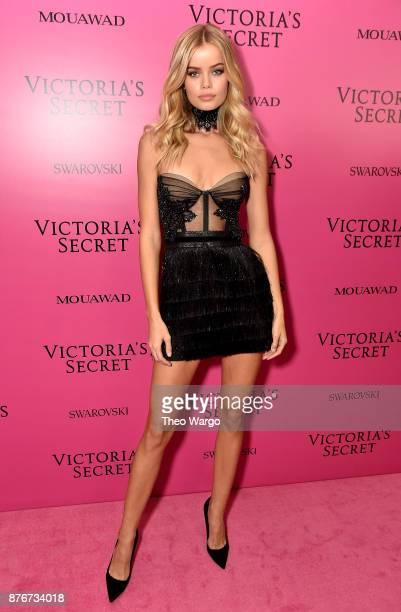 Model Frida Aasen attends the 2017 Victoria's Secret Fashion Show In Shanghai After Party at MercedesBenz Arena on November 20 2017 in Shanghai China
