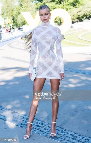 Model Frida Aasen is seen arriving to the 2019 CFDA Fashion Awards on June 3 2019 in New York City