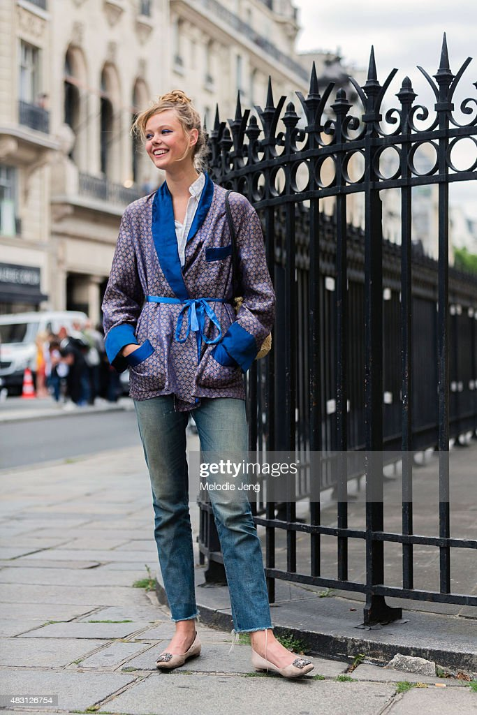 Street Style - Paris Fashion Week : Haute Couture Fall/Winter 2015/2016 : Day Four