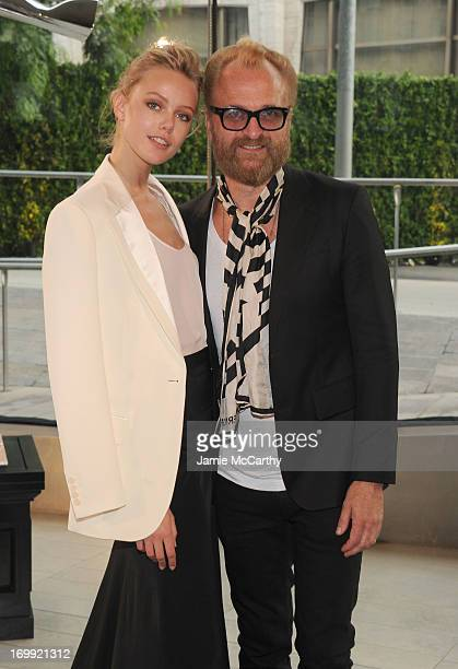 Model Frida Gustavsson and designer Johan Lindeberg attend the 2013 CFDA Fashion Awards on June 3 2013 in New York United States