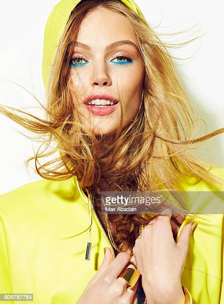 Model Frida Gustavsson is photographed for a beauty hair and makeup editorial for Elle Canada on February 11, 2014 in New York City. PUBLISHED IMAGE.