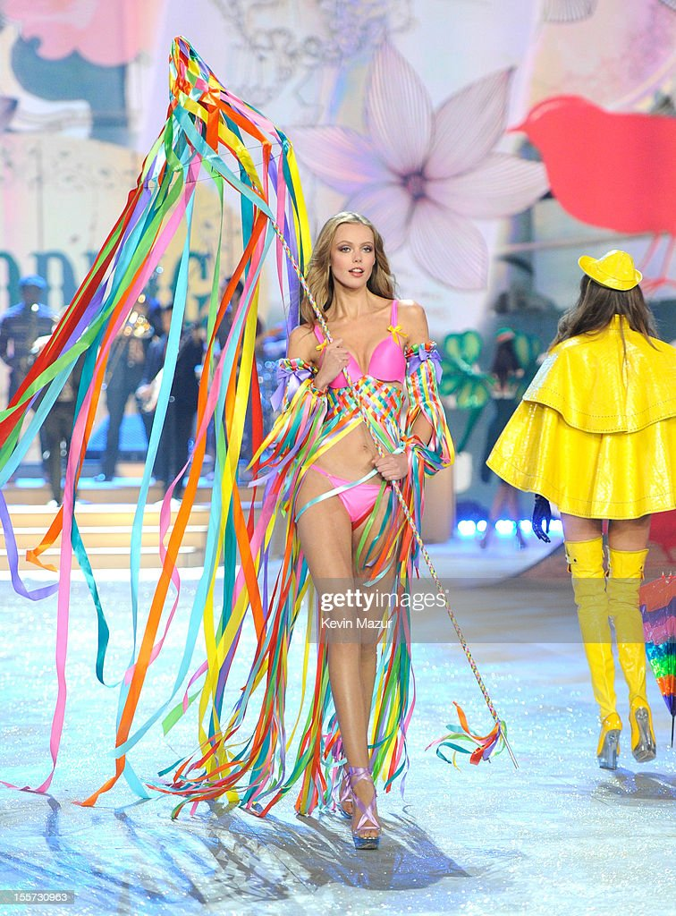 9753295069 Model Frida Gustavsson walks the runway during the 2012 Victoria s ...