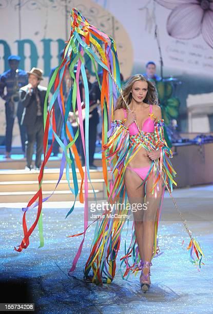 f37e7ec6db Model Frida Gustavsson walks the runway during the 2012 Victoria s Secret  Fashion Show at the Lexington