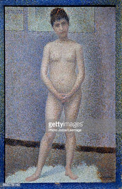 Model from the front Painting by Georges Seurat oil on panel 1887 Musee d'Orsay Paris France