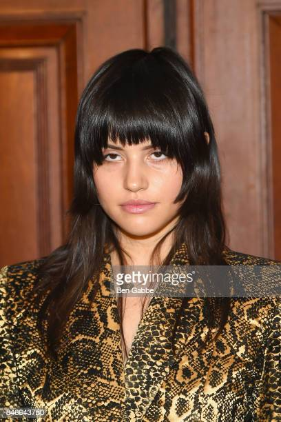 Model Gabbriette Bechtel attends the Marc Jacobs Fashion Show during New York Fashion Week at Park Avenue Armory on September 13 2017 in New York City