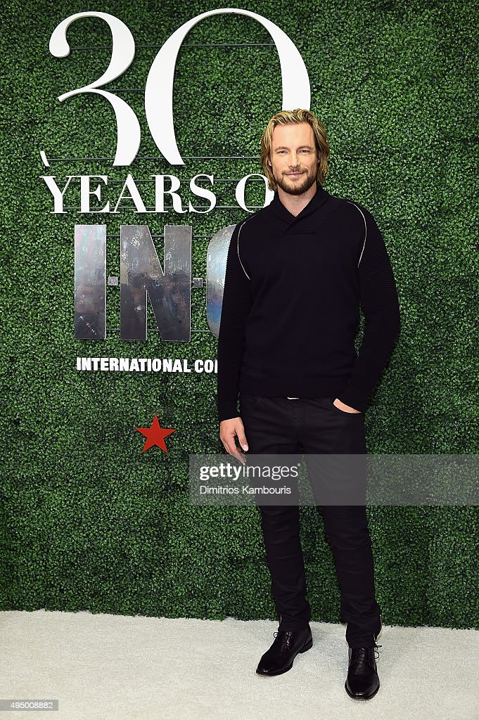 Model Gabriel Aubry attends the Glamour and INC International Concepts Denim Dash with Heidi Klum at Herald Square on October 30, 2015 in New York City.