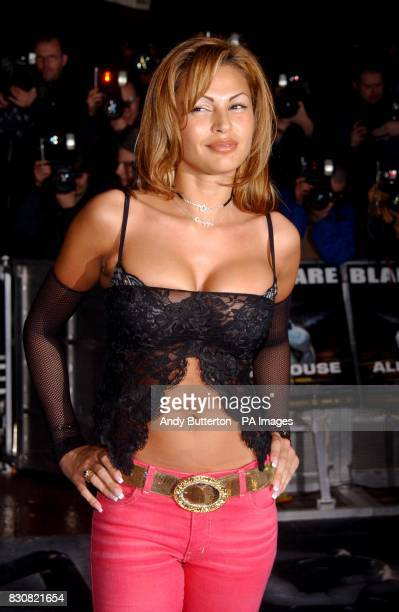 Model Gabrielle Richens arriving at the Empire Cinema in London's Leicester Square for the premiere of Ali G InDaHouse