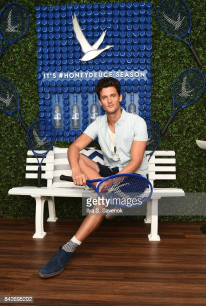 Model Garrett Neff poses during Grey Goose Toasts the 2017 US Open - Round of 16 at USTA Billie Jean King National Tennis Center on September 4, 2017...