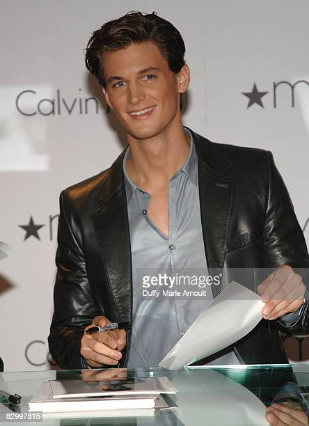 Model Garrett Neff visits Macy's in Herald Square on September 24 2008 in New York City