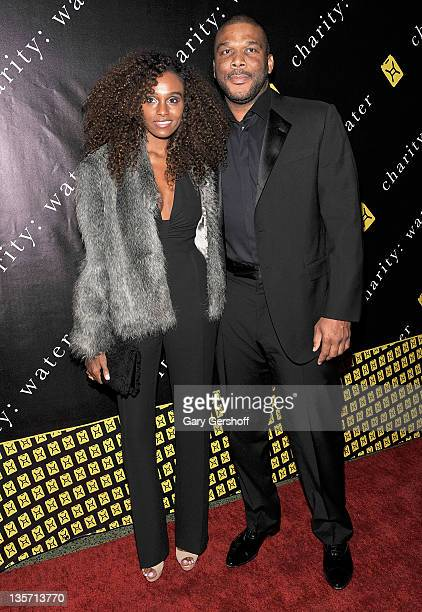 Model Gelila Bekele and writer/director Tyler Perry attend the 6th Annual Charity: Ball to benefit charity:water at the 69th Regiment Armory on...