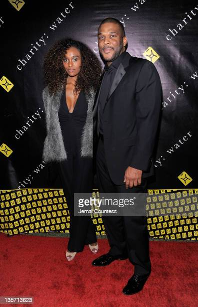Model Gelila Bekele and writer/director Tyler Perry pose for a photo at the 6th Annual Charity:Ball benefiting charity:water at the 69th Regiment...