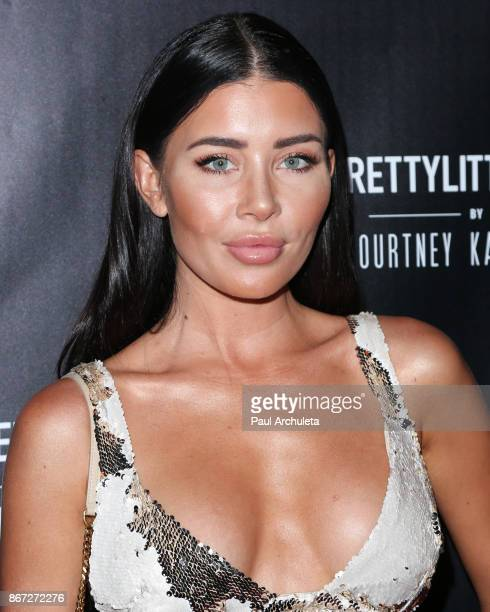 Model Gemma Lee Farrell attends the PrettyLittleThing by Kourtney Kardashian launch party on October 25 2017 in Los Angeles California