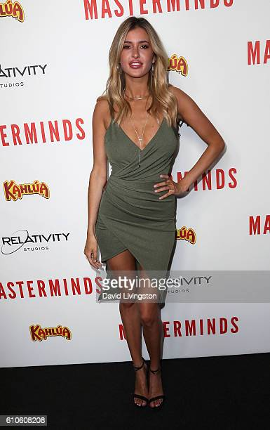 Model Gemma Vence attends the premiere of Relativity Media's 'Masterminds' at TCL Chinese Theatre on September 26 2016 in Hollywood California