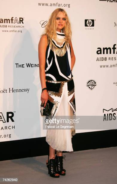 Model Gemma Ward arrives at the Cinema Against Aids 2007 in aid of amfAR at Le Moulin de Mougins in Mougings on May 23 2007 in Cannes France The...