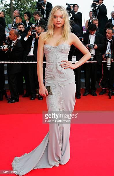 Model Gemma Ward attends a premiere promoting the film Le Scaphandre Et Le Papillon at the Palais des Festivals during the 60th International Cannes...