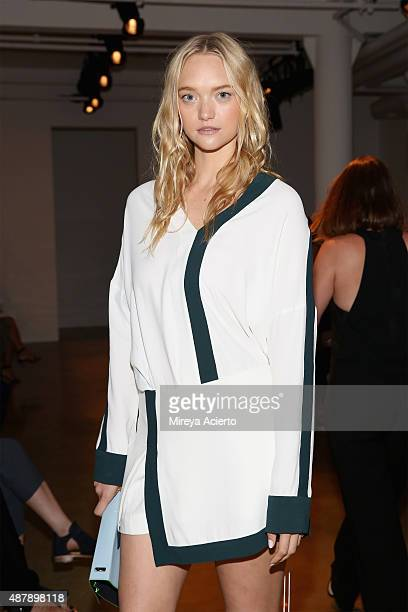 Model Gemma Ward attends the Dion Lee fashion show during Spring 2016 MADE Fashion Week at Milk Studios on September 12 2015 in New York City