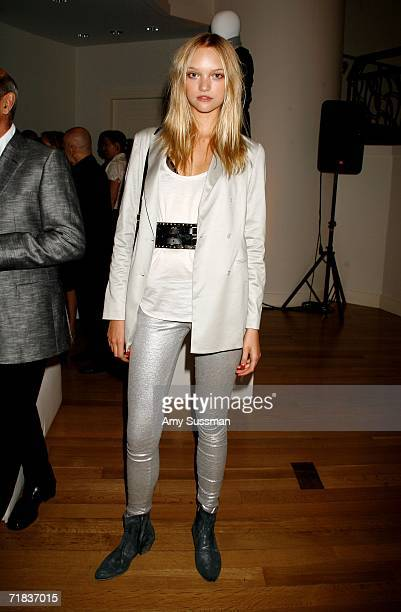 Model Gemma Ward attends the Henri Bendel and 7th on Sixth Fashion Week Dinner Party during Olympus Fashion Week at the Henri Bendel Store September...