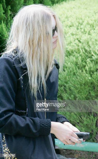 Model Gemma Ward attends the memorial service for Heath Ledger at Penrhos College on February 9 2008 in Perth Australia The late Australian actor was...