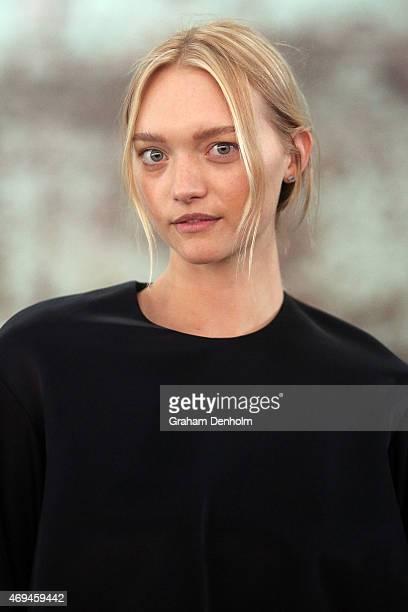 Model Gemma Ward attends the MercedesBenz Presents Ellery show at MercedesBenz Fashion Week Australia 2015 at Carriageworks on April 12 2015 in...