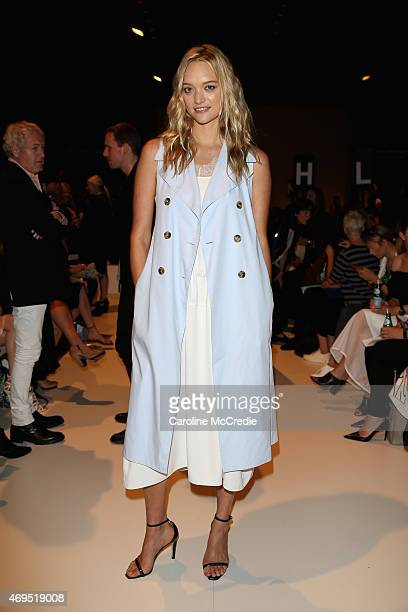 Model Gemma Ward attends the Tome show at MercedesBenz Fashion Week Australia 2015 at Carriageworks on April 13 2015 in Sydney Australia