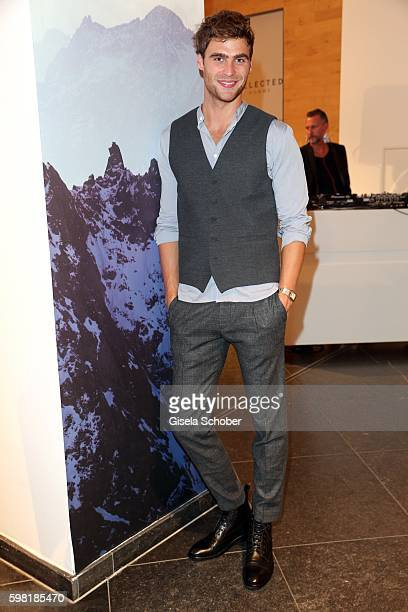 Model George Alsford during the KONEN fall/winter season opening on August 31 2016 in Munich Germany