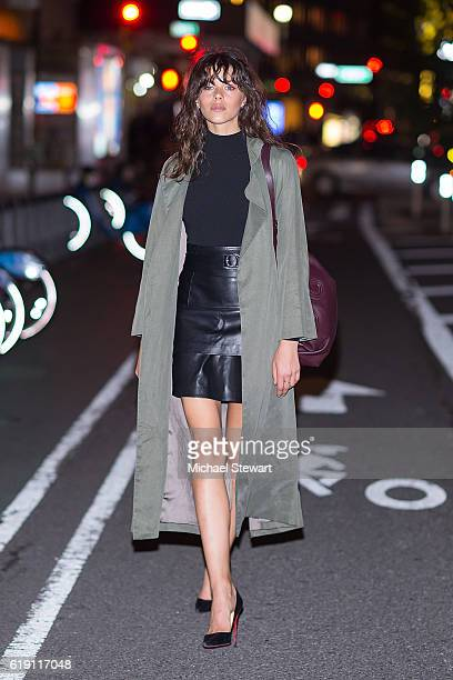 Model Georgia Fowler attends the 2016 Victoria's Secret Fashion Show model fittings on October 29 2016 in New York City