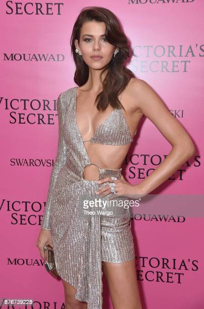 Model Georgia Fowler attends the 2017 Victoria's Secret Fashion Show In Shanghai After Party at MercedesBenz Arena on November 20 2017 in Shanghai...