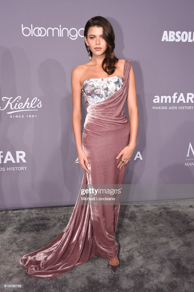 Model Georgia Fowler attends the 2018 amfAR Gala New York at Cipriani Wall Street on February 7, 2018 in New York City.