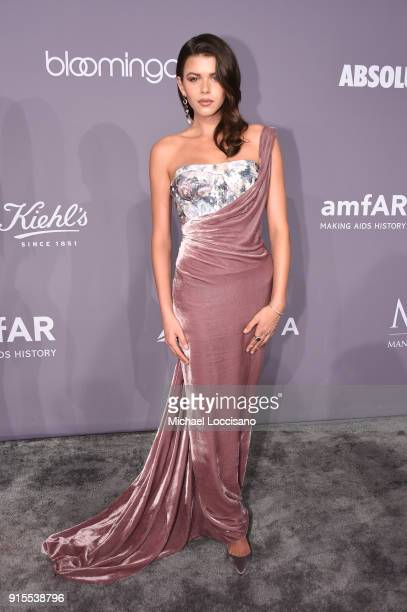 Model Georgia Fowler attends the 2018 amfAR Gala New York at Cipriani Wall Street on February 7 2018 in New York City