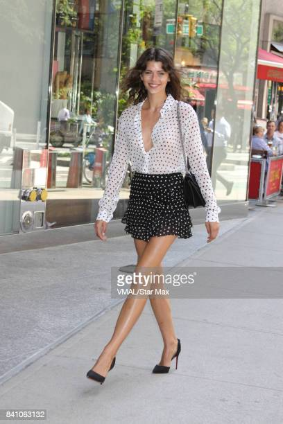 Model Georgia Fowler is seen on August 30 2017 in New York City