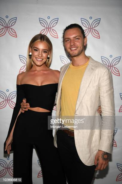 Model Georgia Gibbs and boyfriend arrive arrive at Project Heal's 4th Annual Gala at Private Residence on September 7 2018 in West Hollywood...