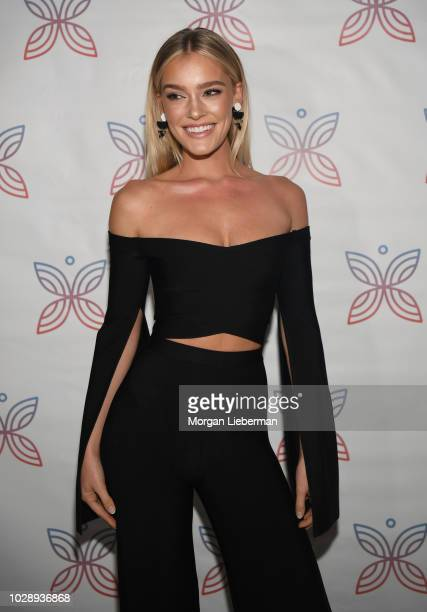 Model Georgia Gibbs arrives arrives at Project Heal's 4th Annual Gala at Private Residence on September 7, 2018 in West Hollywood, California.