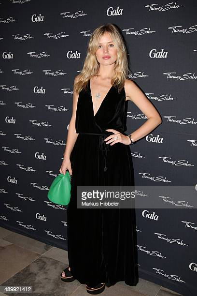 Model Georgia May Jagger attends the Thomas Sabo grand flagship store opening on September 24 2015 in Hamburg Germany