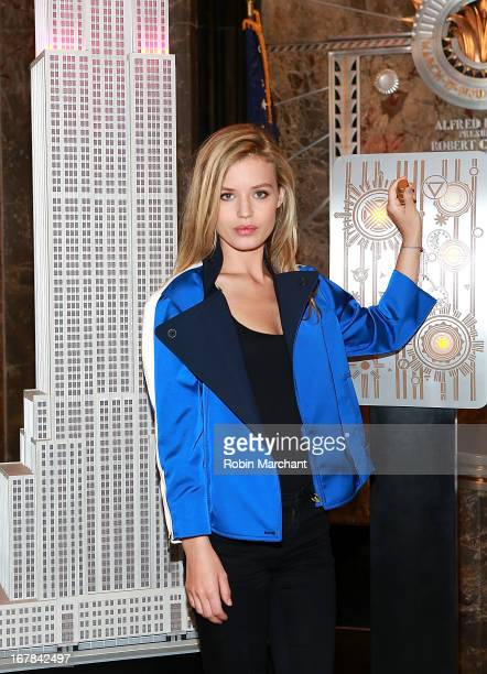 Model Georgia May Jagger illuminates the Empire State Building and joins Katharina Harf of Delete Blood Cancer and founding corporate sponsor Coty...