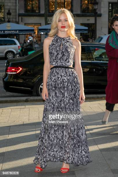 Model Georgia May Jagger launches the Georgia May Jagger x Morgan capsule collection at the Morgan Store on the ChampsElysees Avenue on April 19 2018...
