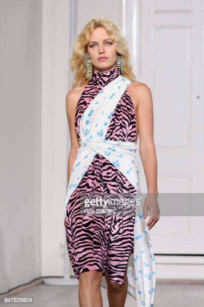 Model Georgia May Jagger walks the runway at the Ashley Williams show during London Fashion Week September 2017 on September 15 2017 in London England