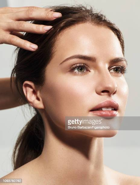 Model Georgina Howard poses at a beauty shoot for Madame Figaro on November 7, 2017 in Paris, France. PUBLISHED IMAGE. CREDIT MUST READ: Bruno...