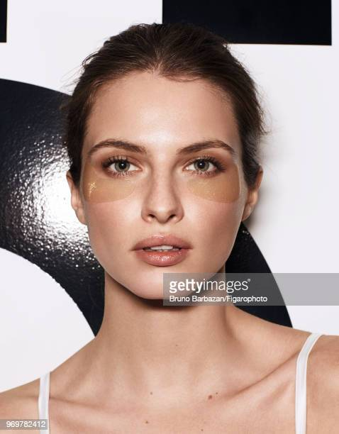 Model Georgina Howard poses at a beauty shoot for Madame Figaro on November 7, 2017 in Paris, France. Lingerie by Intimissimi. PUBLISHED IMAGE....