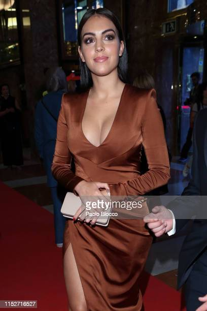 Model Georgina Rodriguez arrives at ELLE Charity Gala 2019 to raise funds for cancer at Intercontinental Hotel on May 30 2019 in Madrid Spain