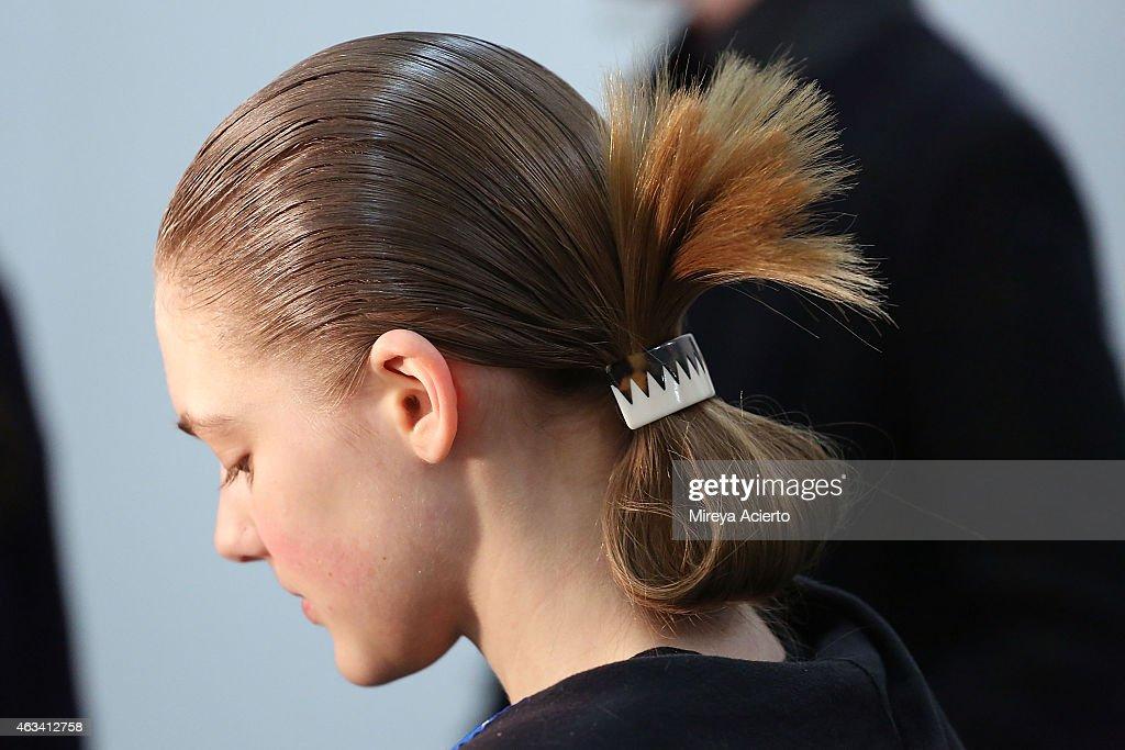 Suno - Backstage - Mercedes-Benz Fashion Week Fall 2015 : News Photo