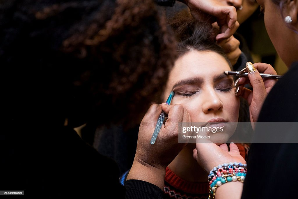 Merveilleux A Model Gets Her Makeup Done Backstage At The Maison Cyma Fall 2016 Fashion  Show During