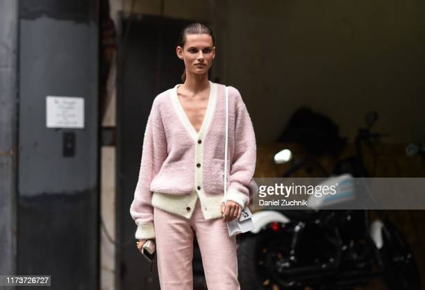 Model Gierdre Dukauskaite is seen outside the Gabriella Hearst show during New York Fashion Week S/S20 on September 10 2019 in New York City