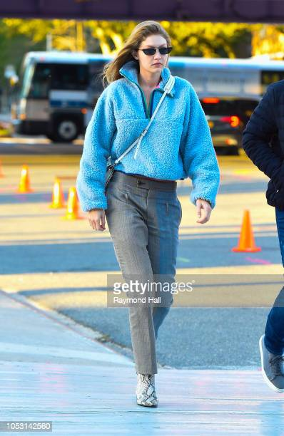 Model Gig Hadid is seen on October 24 2018 in New York City
