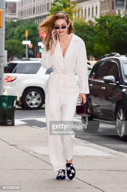Model Gig Hadid is seen walking in Midtown on September 6 2017 in New York City