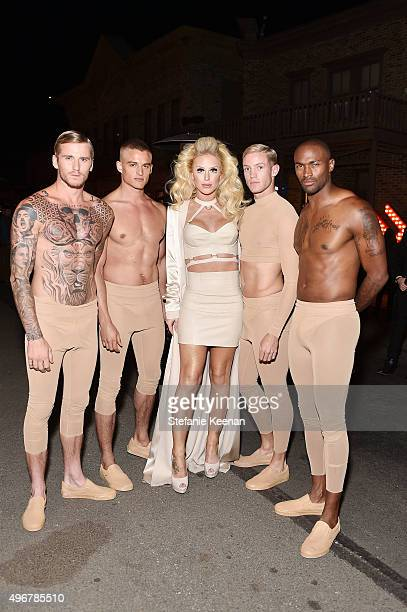 Model Gigi Gorgeous and models attend the August Getty Atelier SS 2016 'The Thread Of Man' Presentation With David LaChapelle at Universal Studios...
